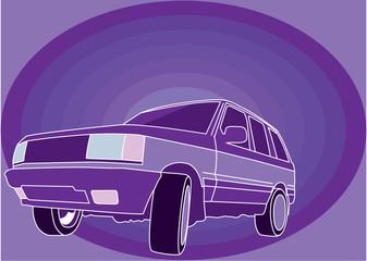 Color purple SUV