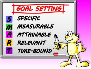 Whiteboard Smart goal setting concept