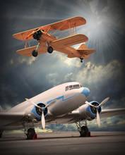 Image de style rétro de l'avion. thème des transports.