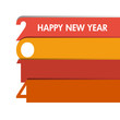 happy new year 2014 - flat design