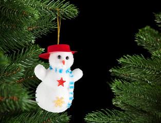 Snowman on the Christmas tree