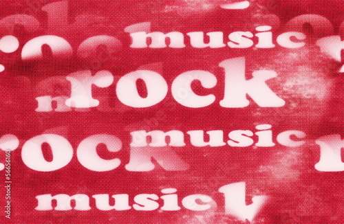 Rock music word backgrounds and texture