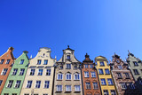 Colourful old buildings in City of Gdansk, Poland