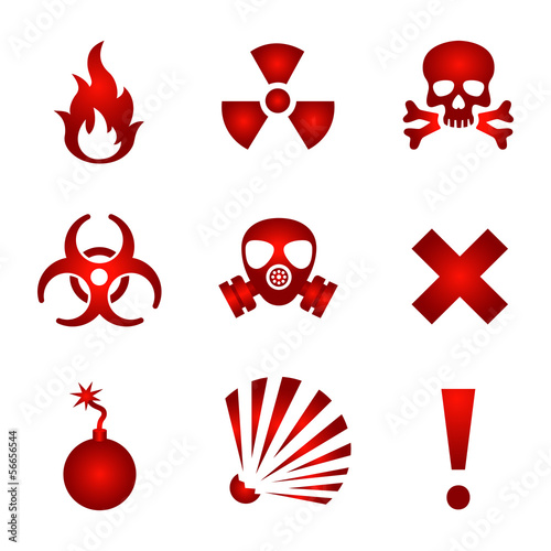 Red warning icons