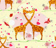 giraffe love cartoon