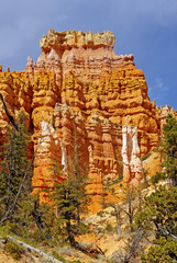 Colorful Hoodoos on a spring day