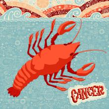 """Astrologiczne Kalendarz: znak zodiaku """"Cancer"""""""