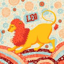 """Astrologiczne Kalendarz: znak zodiaku """"Leo"""""""