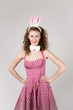 sexy girl wearing easter bunny costume