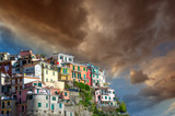 Beautiful colors of Cinque Terre Homes in Spring Season, Italy