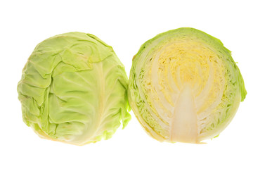 Chinese Peking Cabbage Isolated On White Background