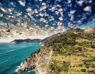 Cinque Terre, Italy. Wonderful landscape in Spring Season