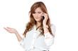 junge attraktive geschäftsfrau mit smartphone