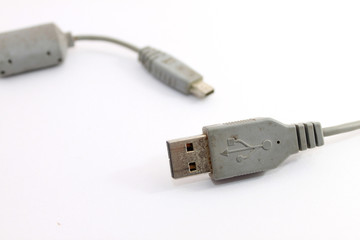 Old and rusty USB cable