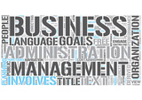 Business administration Word Cloud Concept