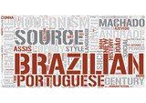 Brazilian literature Word Cloud Concept