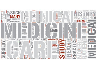 Branches of medicine Word Cloud Concept