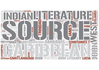 Caribbean literature Word Cloud Concept