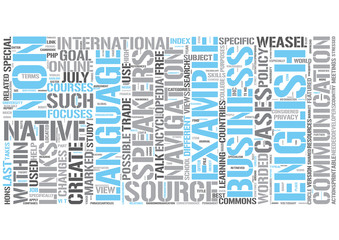Business English Word Cloud Concept