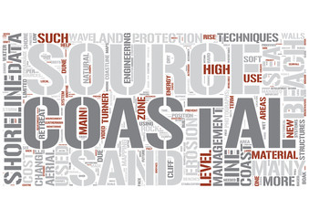 Coastal management Word Cloud Concept