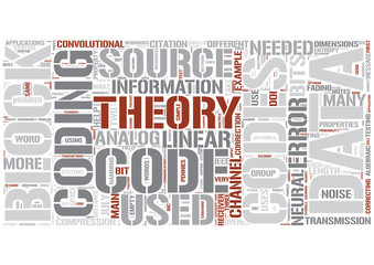 Coding theory Word Cloud Concept