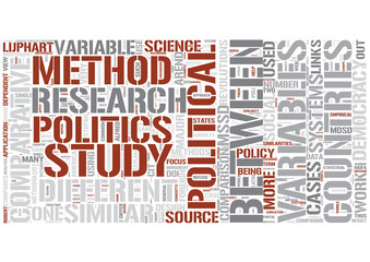 Comparative politics Word Cloud Concept