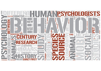 Comparative psychology Word Cloud Concept