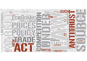 Competition law Word Cloud Concept