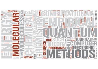 Computational chemistry Word Cloud Concept