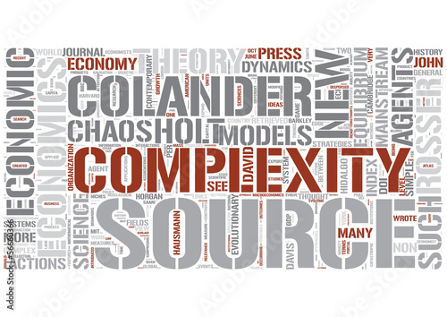 Complexity economics Word Cloud Concept