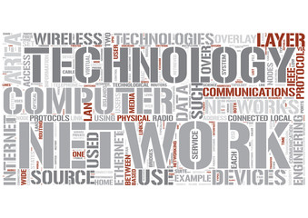 Computer networking Word Cloud Concept