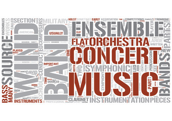 Concert band Word Cloud Concept