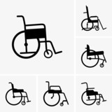Set of wheelchairs