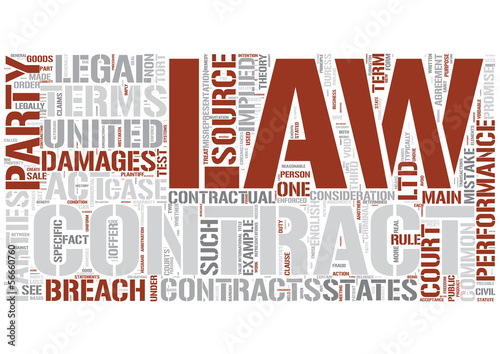 Contract law Word Cloud Concept