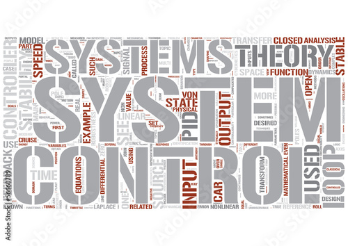 Control theory Word Cloud Concept