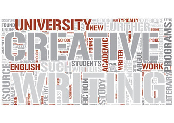 Creative writing Word Cloud Concept