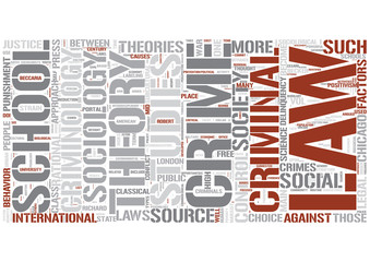 Criminology Word Cloud Concept