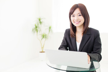 young asian businesswoman working