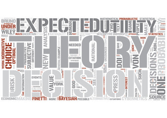 Decision theory Word Cloud Concept