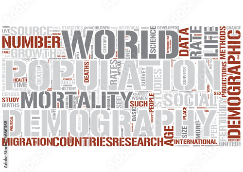 Demography Word Cloud Concept