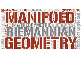 Differential geometry Word Cloud Concept