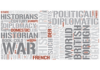 Diplomatic history Word Cloud Concept