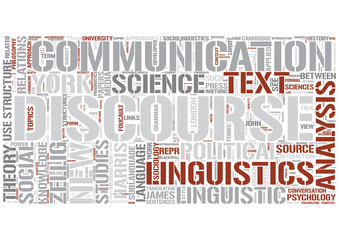 Discourse analysis Word Cloud Concept