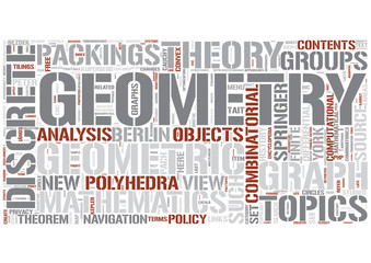 Discrete geometry Word Cloud Concept