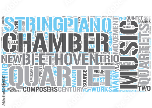 Chamber music Word Cloud Concept