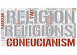 East Asian religions Word Cloud Concept