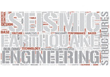 Earthquake engineering Word Cloud Concept