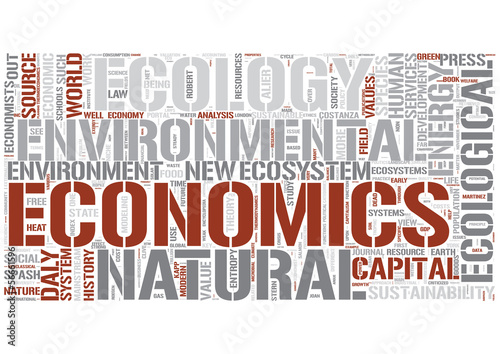 Ecological economics Word Cloud Concept