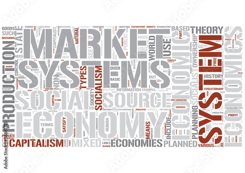 Economic systems Word Cloud Concept