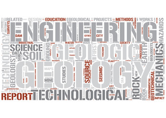 Engineering Geology Word Cloud Concept